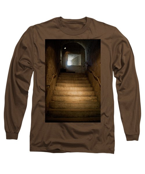 Long Sleeve T-Shirt featuring the photograph Up The Ancient Stairs by Lorraine Devon Wilke