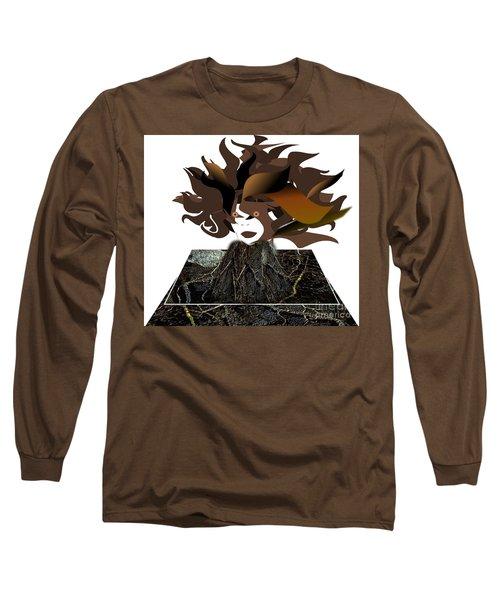 Uprooted Long Sleeve T-Shirt by Belinda Threeths