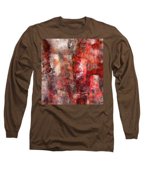 Long Sleeve T-Shirt featuring the mixed media Urban #5 by Kim Gauge