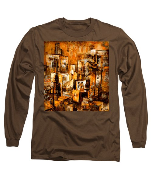 Urban Abstract #1 Long Sleeve T-Shirt by Kim Gauge
