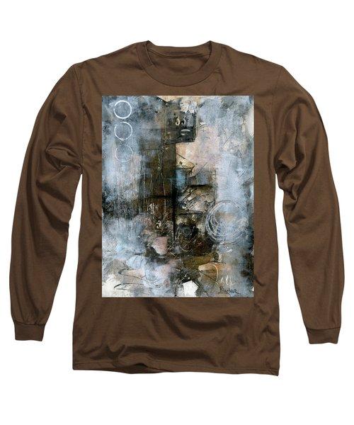 Urban Abstract Cool Tones Long Sleeve T-Shirt