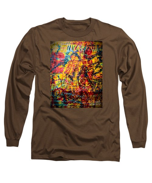 Urban Grunge Four Long Sleeve T-Shirt by Ken Frischkorn