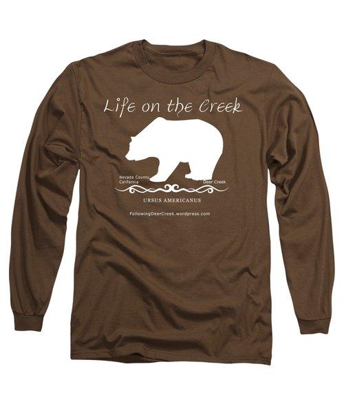 Ursus Americanus - White Text Long Sleeve T-Shirt