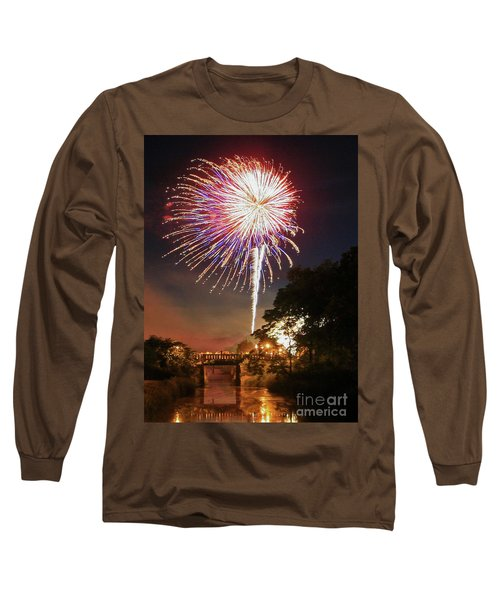 Utica Fireworks Long Sleeve T-Shirt by Paula Guttilla