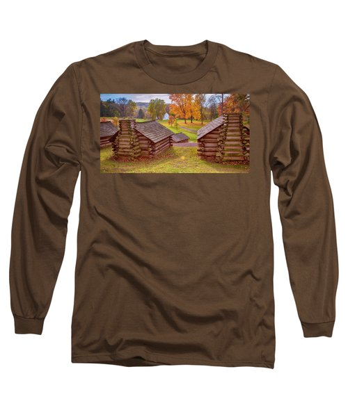Valley Forge Huts In Fall Long Sleeve T-Shirt