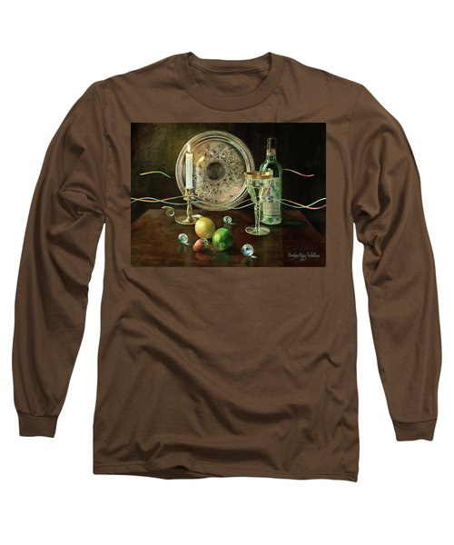 Vanitas Still Life By Candlelight With Les Bourgeois Wine Long Sleeve T-Shirt