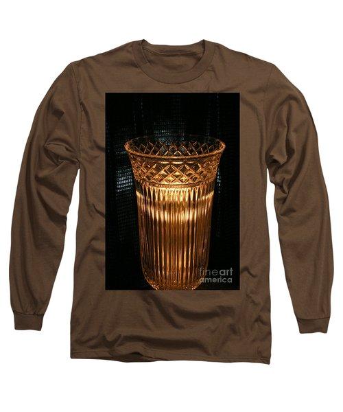 Vase In Amber Light Long Sleeve T-Shirt by Marie Neder