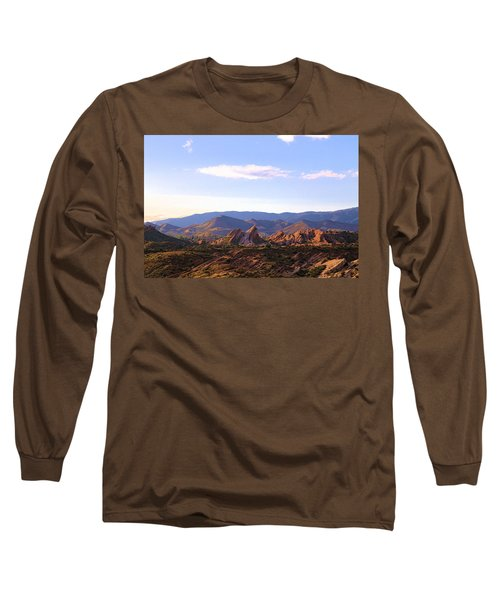 Long Sleeve T-Shirt featuring the photograph Vasquez Rocks Sky And Stones by Viktor Savchenko