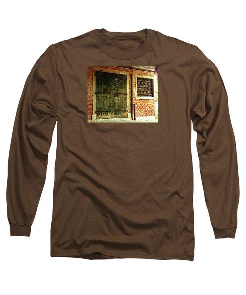 Long Sleeve T-Shirt featuring the photograph Venetian Graffiti by Anne Kotan