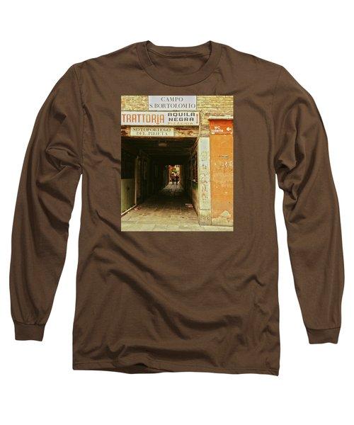 Long Sleeve T-Shirt featuring the photograph Venetian Passage by Anne Kotan