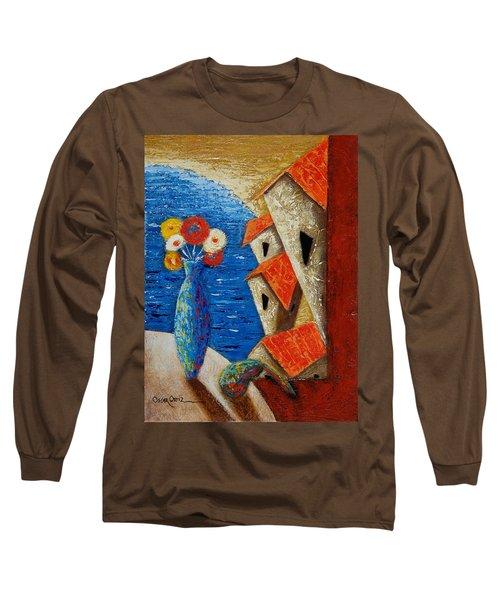 Ventana Al Mar Long Sleeve T-Shirt by Oscar Ortiz