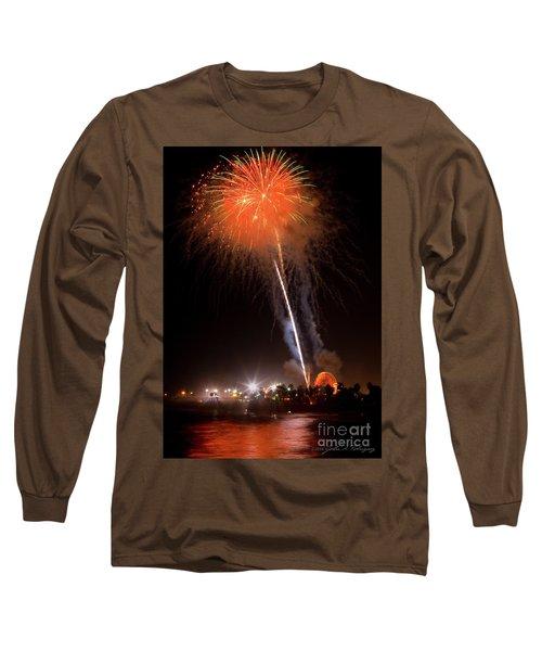 Ventura California Fair Fireworks Long Sleeve T-Shirt by John A Rodriguez