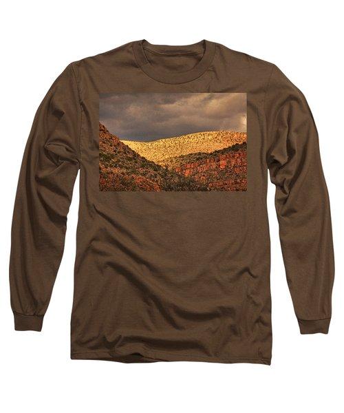 Verde Canyon View Txt Long Sleeve T-Shirt
