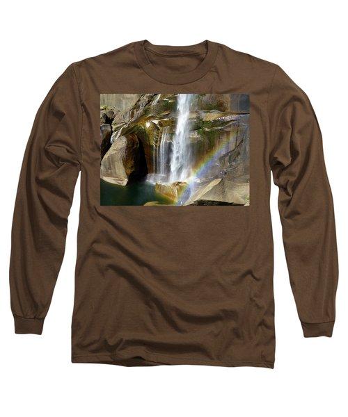 Vernal Falls Mist Trail Long Sleeve T-Shirt by Amelia Racca