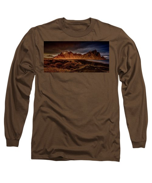 Long Sleeve T-Shirt featuring the photograph Vestrahon With Sunglow by Allen Biedrzycki