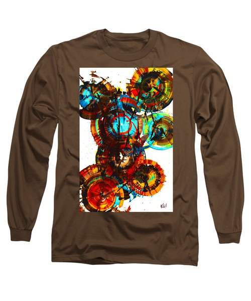 Vibrant Sphere Series 995.042312vsx2 Long Sleeve T-Shirt by Kris Haas