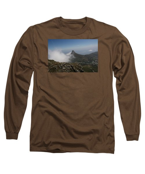 View From Table Mountain Long Sleeve T-Shirt by Bev Conover