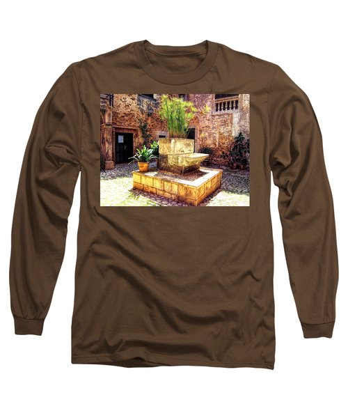 Village Well In Santanyi Long Sleeve T-Shirt by Andreas Thust
