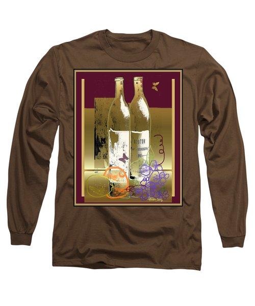 Vin, Fruit, Et Papillons Long Sleeve T-Shirt