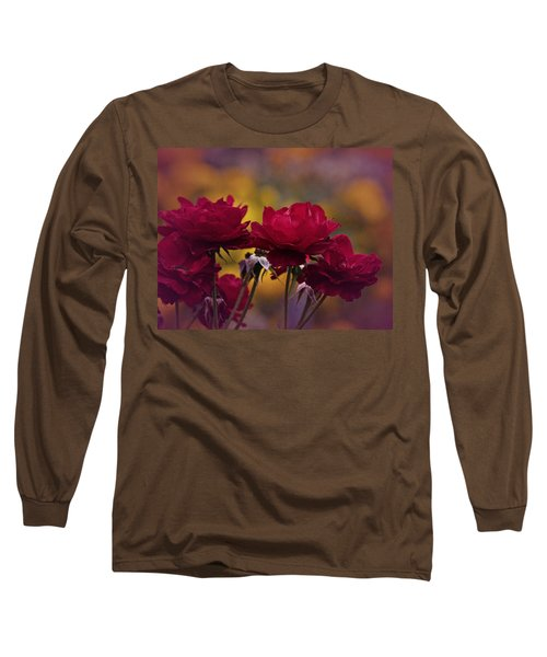 Vintage Aug Red Roses Long Sleeve T-Shirt