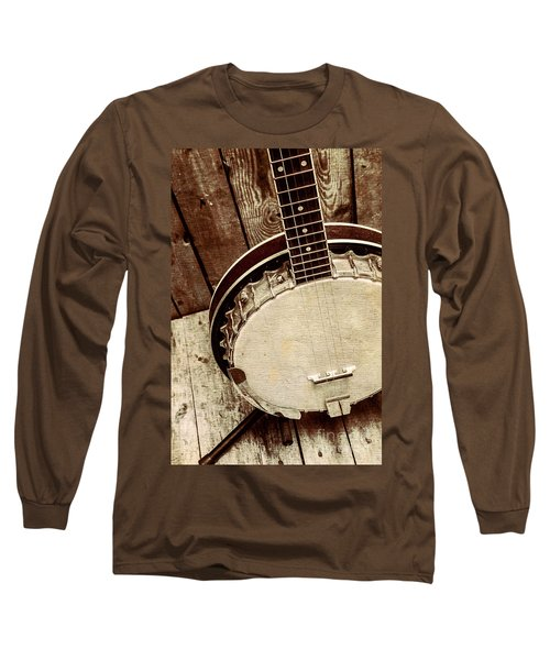 Vintage Banjo Barn Dance Long Sleeve T-Shirt
