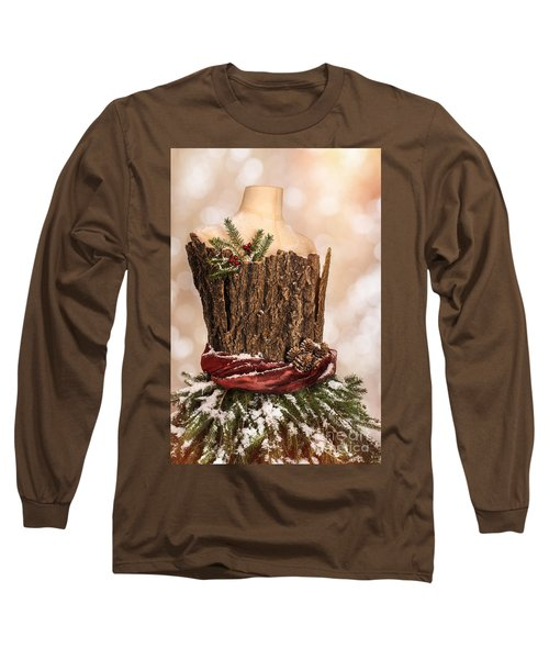Vintage Christmas Greetings Card Long Sleeve T-Shirt