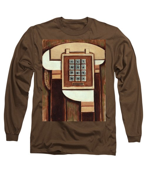 Tommervik Vintage Landline Phone Art Print Long Sleeve T-Shirt