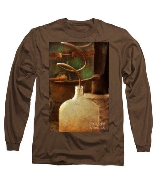 Vintage Moonshine Still Long Sleeve T-Shirt by Jill Battaglia