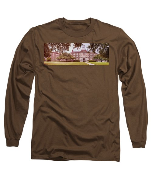 Vintage Panorama Of The Fondren Science Building At Southern Methodist University - Dallas Texas Long Sleeve T-Shirt