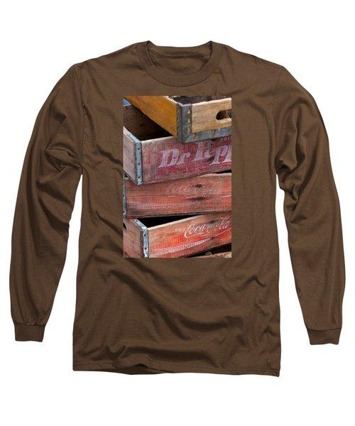 Vintage Soda Crates Long Sleeve T-Shirt
