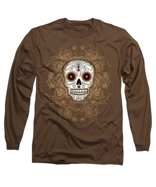 Vintage Sugar Skull Long Sleeve T-Shirt
