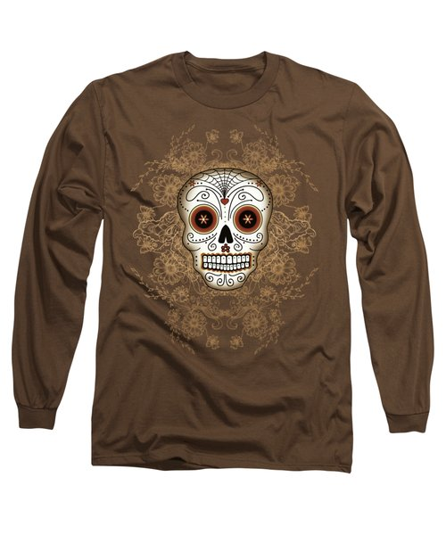 Vintage Sugar Skull Long Sleeve T-Shirt
