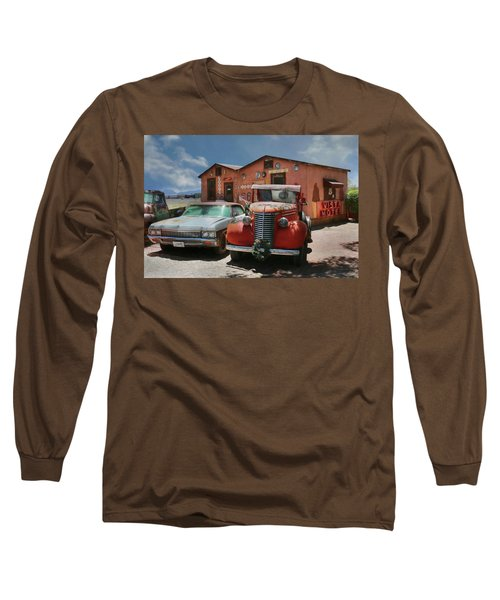 Long Sleeve T-Shirt featuring the photograph Vista Motel by Lori Deiter