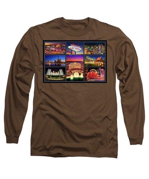 Viva Las Vegas Collection Long Sleeve T-Shirt by Aloha Art