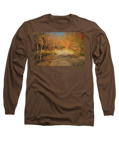 Vt.rte. Fifty Eight Hazen  Notch Long Sleeve T-Shirt by John Selmer Sr