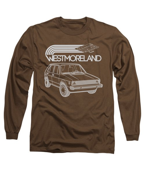 Vw Rabbit - Westmoreland Theme - Gray Long Sleeve T-Shirt by Ed Jackson