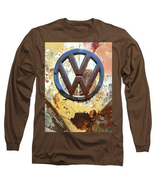 Vw Volkswagen Emblem With Rust Long Sleeve T-Shirt
