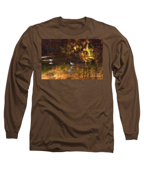 Wading In Light Long Sleeve T-Shirt by Steve Warnstaff