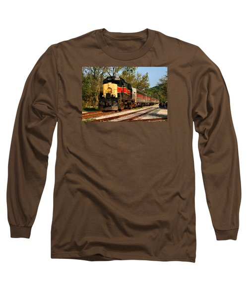 Waiting For The Train Long Sleeve T-Shirt by Kristin Elmquist