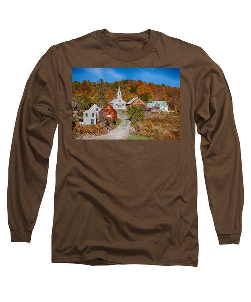 Waits River Church In Autumn Long Sleeve T-Shirt