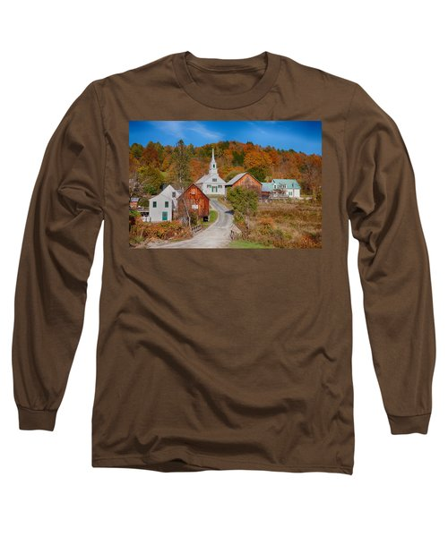 Waits River Church In Autumn Long Sleeve T-Shirt
