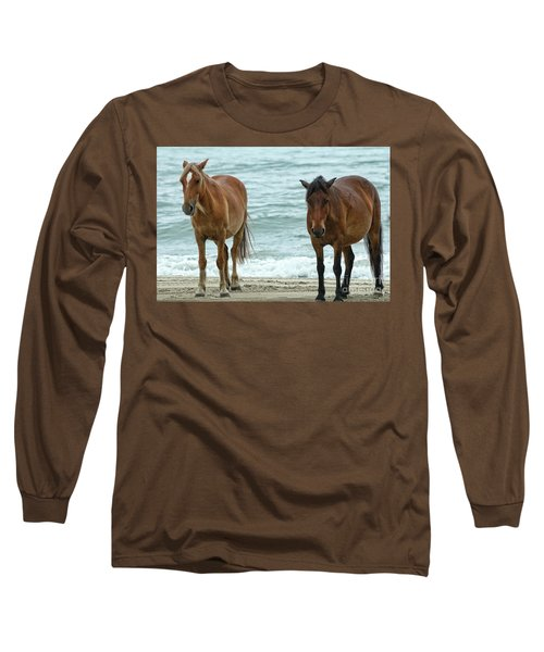 Walk On The Beach Obx Long Sleeve T-Shirt