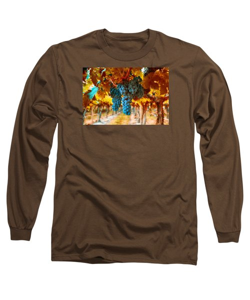 Walking Through The Grapes Long Sleeve T-Shirt by Lynn Hopwood