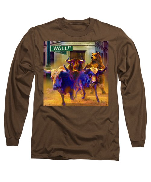 Wall Street Il Long Sleeve T-Shirt by Doug Kreuger