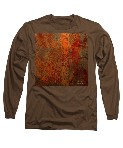 Long Sleeve T-Shirt featuring the mixed media Wander by Michael Rock