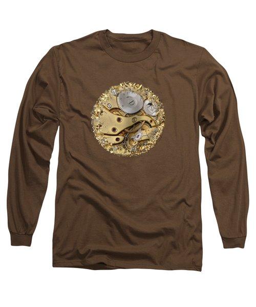 Warped And Shattered Clockwork Mechnism Long Sleeve T-Shirt