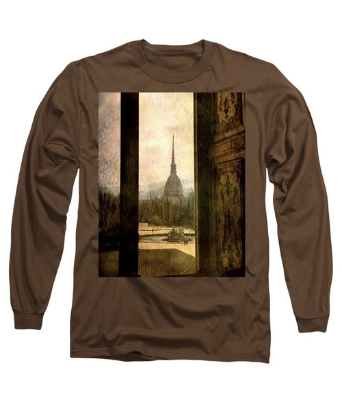 Watching Antonelliana Tower From The Window Long Sleeve T-Shirt