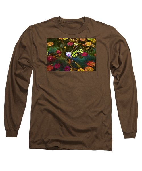 Water Lily Dreams Long Sleeve T-Shirt by Terry Cork