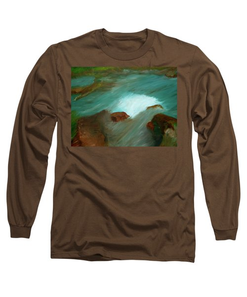 Water Over The Rocks Long Sleeve T-Shirt
