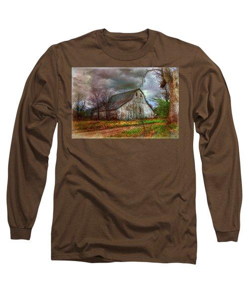 Watercolor Barn 2 Long Sleeve T-Shirt by Karen McKenzie McAdoo